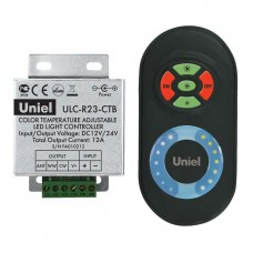 Контроллер для управления мультибелыми светодиодами с пультом ДУ (05950) Uniel ULC-R23-CTB Black