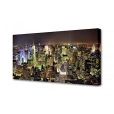 Холст Ночной Нью-Йорк Toplight 50х100х2см TL-H3007