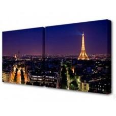 Модульная картина Ночной Париж Toplight 50x100см TL-D4004
