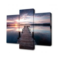 Модульная картина Мост к закату Toplight 150х100см TL-M2055