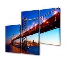 Модульная картина Через Бруклинский мост III Toplight 150х100см TL-M2015