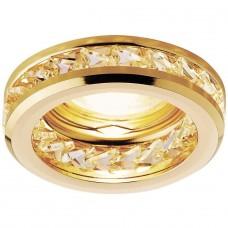 Встраиваемый светильник Ambrella light Crystal K105 CL/G