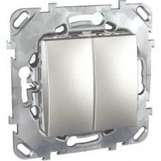 Выключатель двухклавишный Schneider Electric Unica 10AX 250V MGU5.211.30ZD