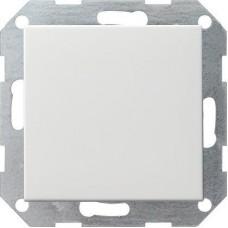 Выключатель кнопочный одноклавишный перекрестный Gira System 55 чисто-белый шелковисто-матовый 10A 250V 012727