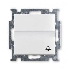 Выключатель кнопочный одноклавишный ABB Basic55 10A 250V Звонок альпийский белый 2CKA001413A1086