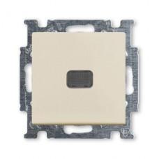 Выключатель одноклавишный ABB Basic55 10A 250V с подсветкой слоновая кость 2CKA001012A2156