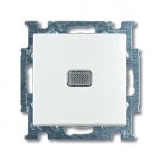 Выключатель одноклавишный ABB Basic55 10A 250V с подсветкой альпийский белый 2CKA001012A2153