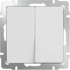 Выключатель двухклавишный белый WL01-SW-2G 4690389045554