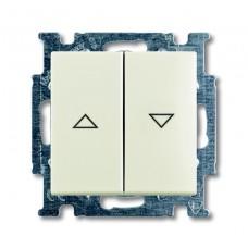 Выключатель жалюзи без фиксации ABB Basic55 chalet-белый 2CKA001413A1102