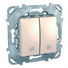 Выключатель двухклавишный для жалюзи Schneider Electric Unica MGU5.208.25ZD