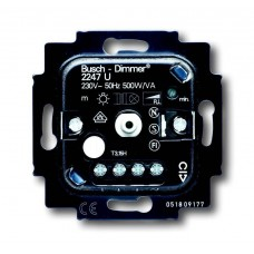 Диммер поворотный для л/н г/л ABB BJE 500W 2CKA006512A0302