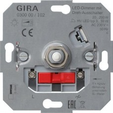 Диммер поворотный светодиодноый Gira System 2000 030000