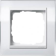 Рамка 1-постовая Gira Event Clear белый/белый глянцевый 0211723