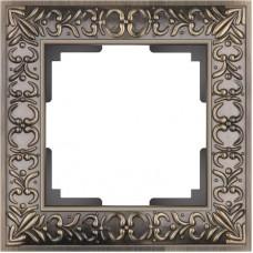 Рамка Antik на 1 пост бронза WL07-Frame-01 4690389054358