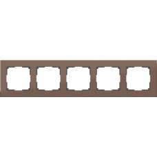 Рамка Aluminium на 5 постов алюминий коричневый WL11-Frame-05 4690389073724