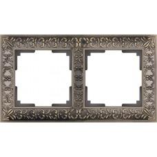 Рамка Antik на 2 поста бронза WL07-Frame-02 4690389054365