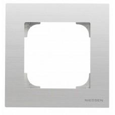 Рамка 1-постовая ABB Sky нержавеющая сталь 2CLA857100A1401