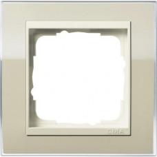 Рамка 1-постовая Gira Event Clear песочный/кремовый глянцевый 0211771