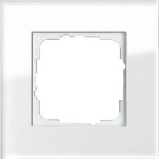 Рамка 1-постовая Gira Esprit белое стекло 021112