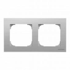 Рамка 2-постовая ABB Sky нержавеющая сталь 2CLA857200A1401