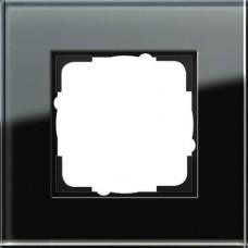 Рамка 1-постовая Gira Esprit черное стекло 021105