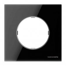 Рамка 1-постовая ABB Sky Moon cтекло чёрное 2CLA867100A3101