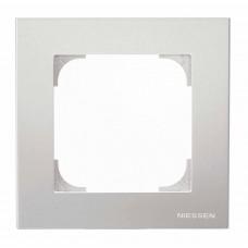 Рамка 1-постовая ABB Sky серебристый алюминий 2CLA857100A1301