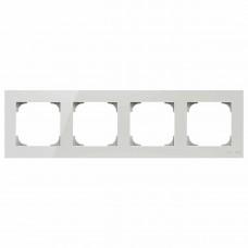 Рамка 4-постовая ABB Sky стекло белое 2CLA857400A3001