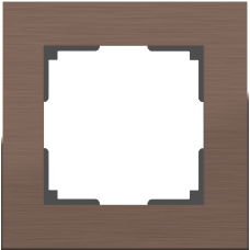 Рамка Aluminium на 1 пост алюминий коричневый WL11-Frame-01 4690389073687