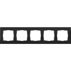 Рамка Aluminium на 5 постов алюминий черный WL11-Frame-05 4690389110481