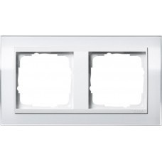 Рамка 2-постовая Gira Event Clear белый/белый глянцевый 0212723
