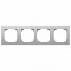 Рамка 4-постовая ABB Sky нержавеющая сталь 2CLA857400A1401