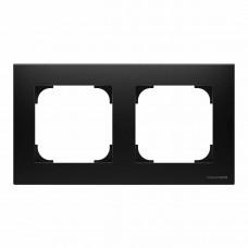 Рамка 2-постовая ABB Sky чёрный бархат 2CLA857200A1501