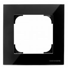 Рамка 1-постовая ABB Sky стекло чёрное 2CLA857100A3101