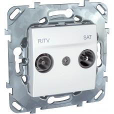 Розетка R-TV/SAT проходная Schneider Electric Unica MGU5.456.18ZD