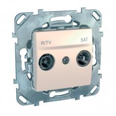 Розетка R-TV/SAT оконечная Schneider Electric Unica MGU5.455.25ZD