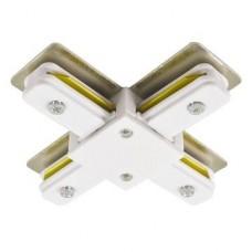 Соединитель для шинопроводов Х-образный Horoz белый 096-001-0003