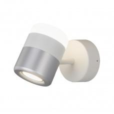 Светодиодный спот Eurosvet Oskar 20165/1 LED белый/серебро