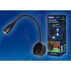 Бра (UL-00004240) Uniel ULT-F22-3W/4000K IP20 Black
