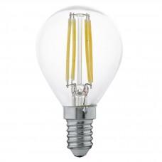 Лампа светодиодная Eglo филаментная E14 4W 2700К прозрачная 11499