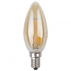 Лампа светодиодная филаментная ЭРА E14 5W 2700K золотая F-LED B35-5W-827-E14 gold