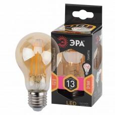 Лампа светодиодная филаментная ЭРА E27 13W 2700K золотая F-LED A60-13W-827-E27 gold
