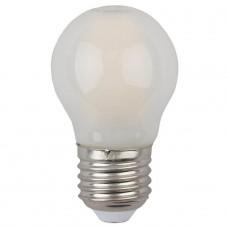 Лампа светодиодная филаментная филаментная ЭРА E27 5W 4000K матовая F-LED P45-5W-840-E27 frost