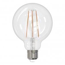 Лампа светодиодная филаментная (UL-00004863) Uniel E27 10W 4000K прозрачная LED-G95-10W/4000K/E27/CL PLS02WH