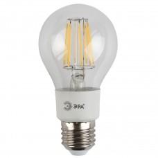Лампа светодиодная филаментная ЭРА E27 5W 2700K груша прозрачная F-LED A60-5W-827-E27