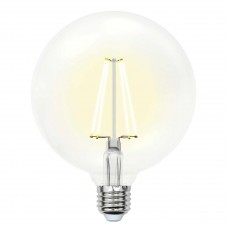 Лампа светодиодная филаментная (UL-00004861) Uniel E27 15W 4000K прозрачная LED-G125-15W/4000K/E27/CL PLS02WH