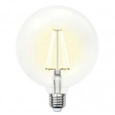 Лампа светодиодная филаментная (UL-00004859) Uniel E27 10W 4000K прозрачная LED-G125-10W/NW/E27/CL PLS02WH