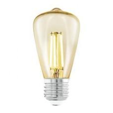 Лампа светодиодная Eglo филаментная E27 3,5W 2200К янтарь 11553