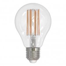 Лампа светодиодная филаментная (UL-00004870) Uniel E27 17W 3000K прозрачная LED-A70-17W/3000K/E27/CL PLS02WH