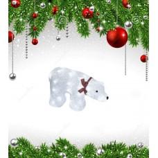 Фигурка светодиодная «Белый медведь» 23x36,5см (07954) ULD-M3423-040/STA
